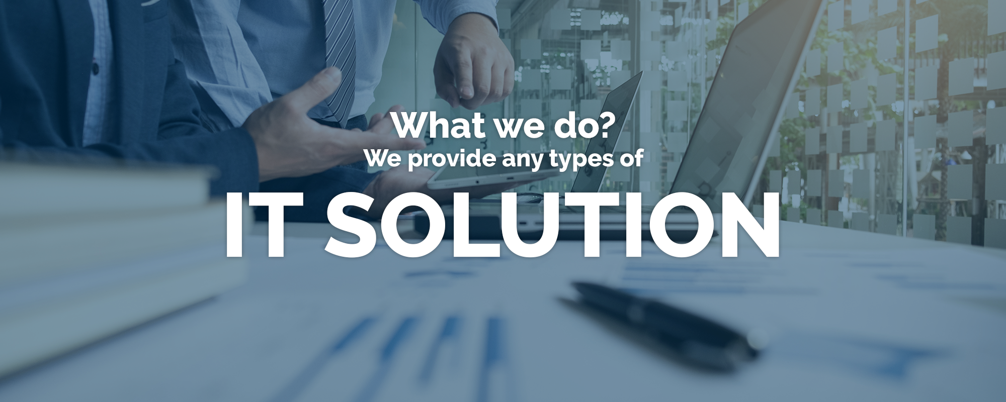 we provide any types of IT solution